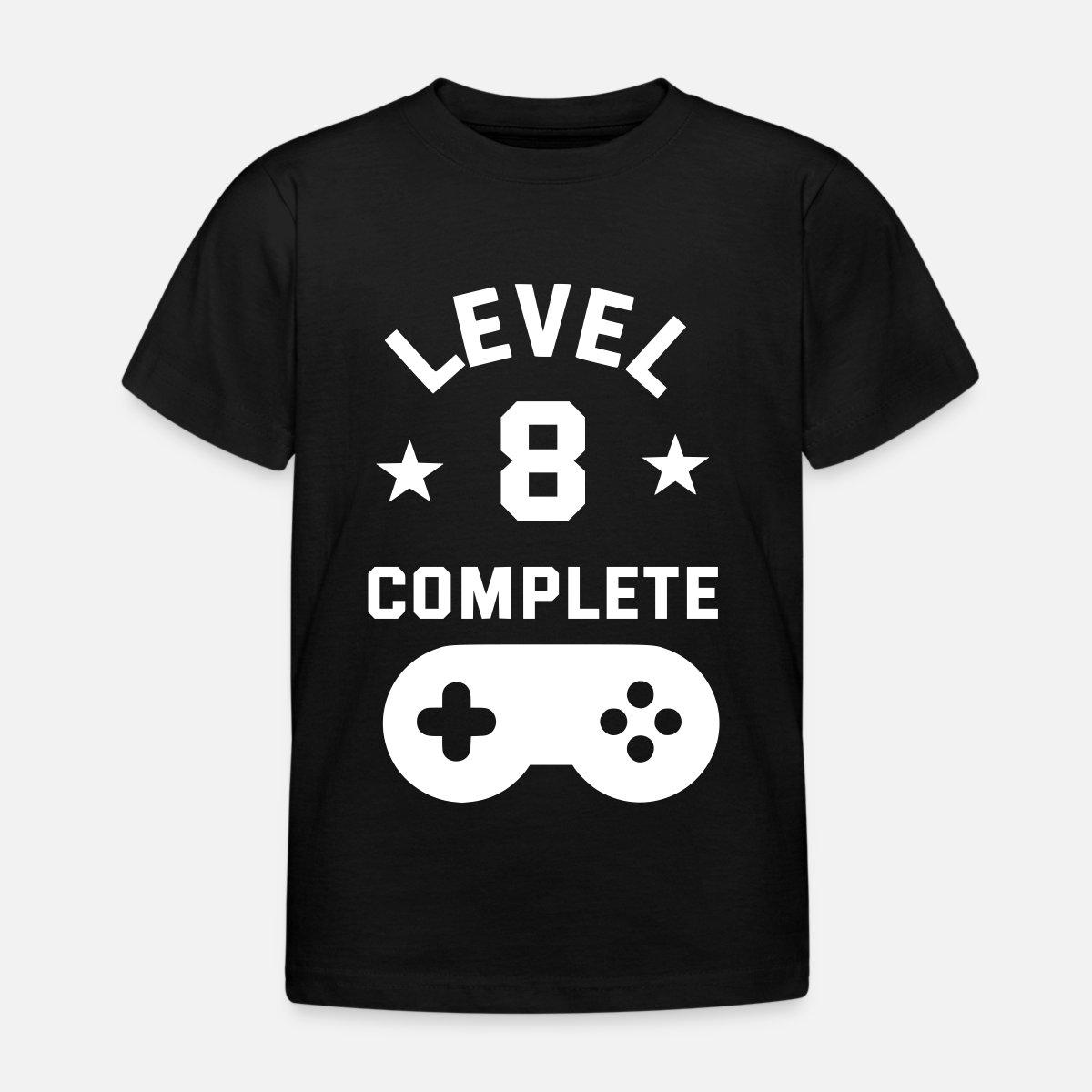 '8. Geburtstag Level complete' Kinder T Shirt   Spreadshirt