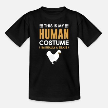 Slim This is my human costume I am really - Kids' T-Shirt