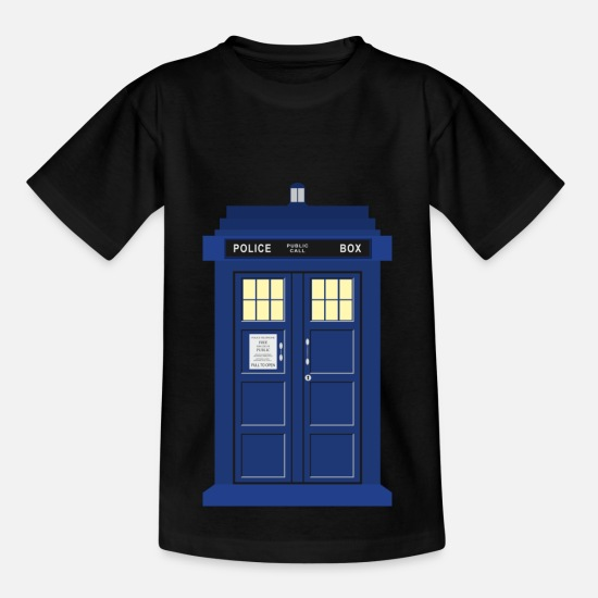 Bestsellers Q4 2018 T-Shirts - Tardis print Doctor Who - Kids' T-Shirt black