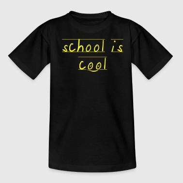 school is cool Smiley - Kinder T-Shirt