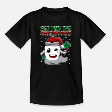 Cheerful Get Into The Christmas Spirit - Xmas Ghost - Kids' T-Shirt