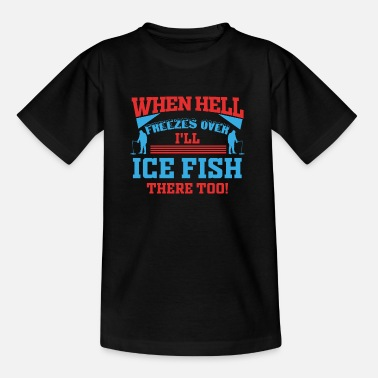 Noorwegen Ice Fishing Fisherman Fish North Hengst Gift - Kinderen T-shirt