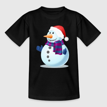 Schneemann Comic - Kinder T-Shirt