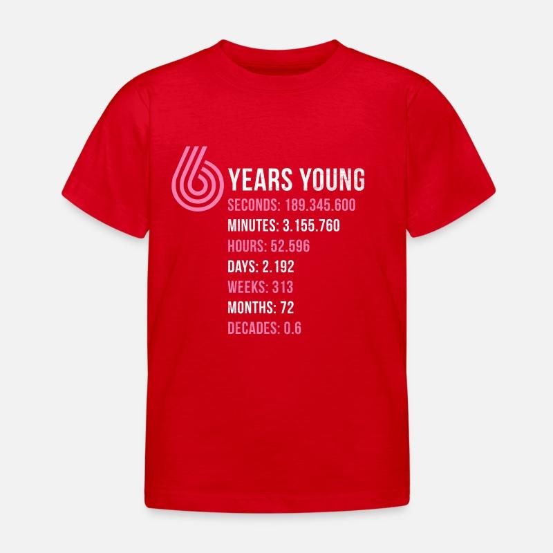 6 Geburtstag Mädchen Geburtstagsgeschenk Sechs Kinder T Shirt