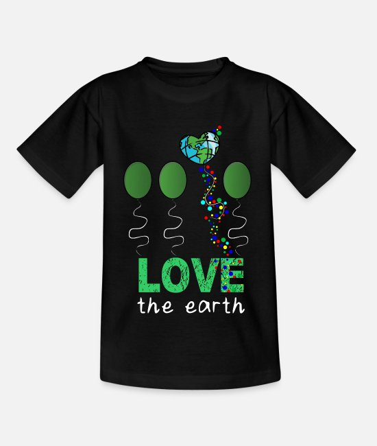Earth T-Shirts - Love Mother Earth - Kids' T-Shirt black