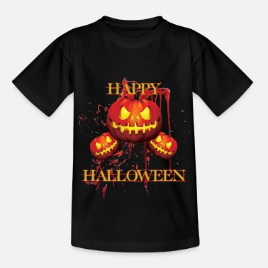 Celtic halloween - scary shirt with pumpkin - Happy - Kids' T-Shirt