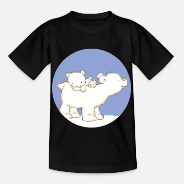 Baby Polar Bear with Dad - Kinder T-Shirt