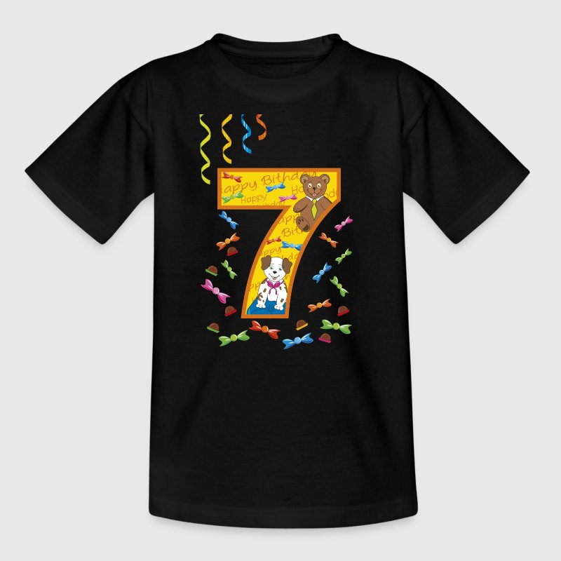 7th birthday 7 years happy birthday - Kids' T-Shirt