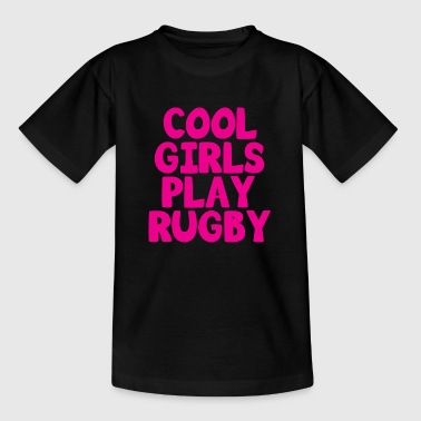 Cool Girls Play Rugby - Kids' T-Shirt