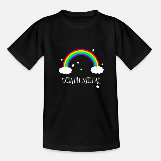 Chant T-Shirts - Death Metal Rainbow - Kids' T-Shirt black