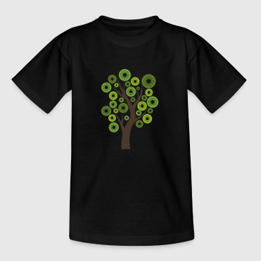 Tree gift nature modern leaves forest hipster - Kids' T-Shirt