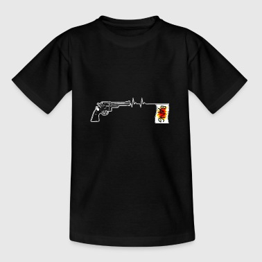 Gun Heart Heartbeats Gun Jokes Heart Rate - Kids' T-Shirt