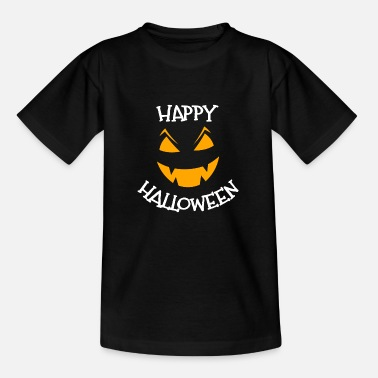 Happy Halloween greeting face - Kids' T-Shirt