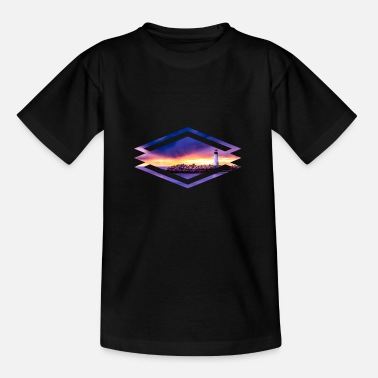 Rhombus Sunset rhombus - Kids' T-Shirt