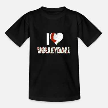 I Love Volleyball I love volleyball - Kids' T-Shirt