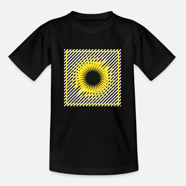 Bright Geometry stripes sun abstract square - Kids' T-Shirt