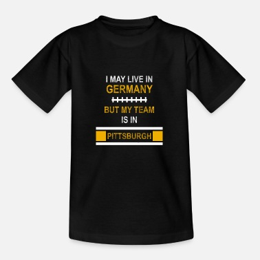 League Game My Team is in Pittsburgh | Stealers Fandesign - Kids' T-Shirt