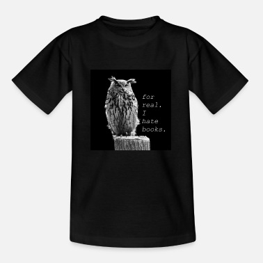 Eagle owl doesn't like books - Kids' T-Shirt