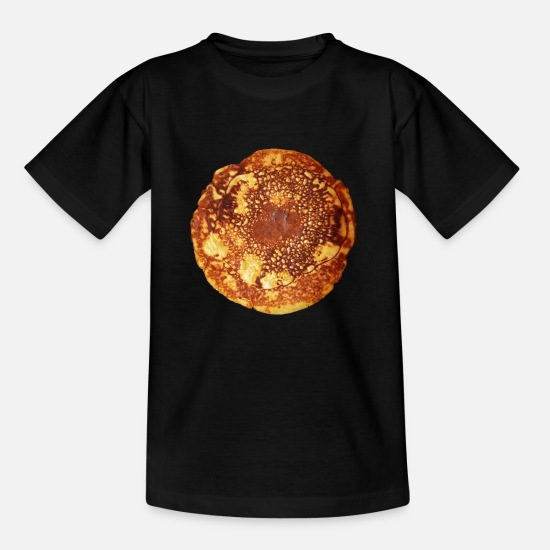 Pastries T-Shirts - Pancakes - pancakes - Kids' T-Shirt black