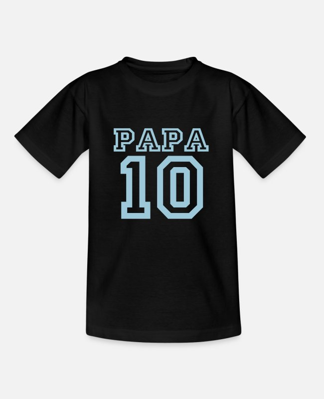 Design T-Shirts - Papa 2010 blue - Kids' T-Shirt black