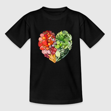 Vegetable heart / fruit heart - Kids' T-Shirt