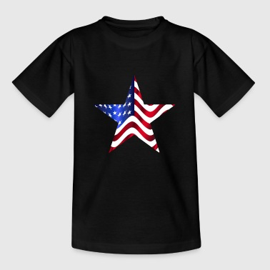 USA Amerika Flag Stars and Stripes stjerne - Børne-T-shirt