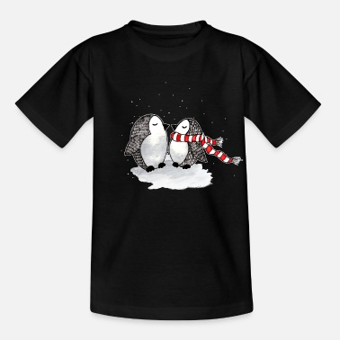 Winter Niedliche Pinguine Winter - Kinder T-Shirt