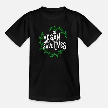 Animal Liberation Go vegan and save lives- climate protector FFF green - Kids' T-Shirt