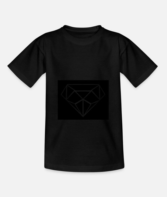 Jewel T-Shirts - diamond design 001 - Kids' T-Shirt black