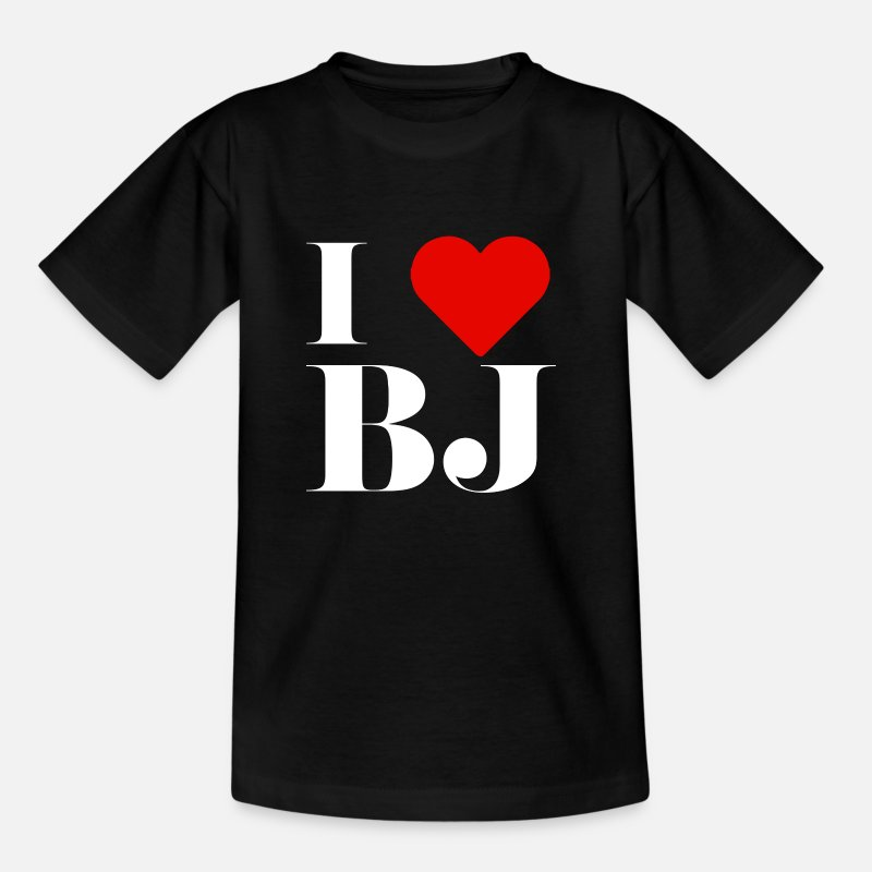 I Love T-Shirts - I LOVE BJ - Kids' T-Shirt black