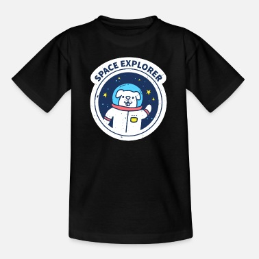 Eclipse Space Dog Funny Graphic - Kids' T-Shirt