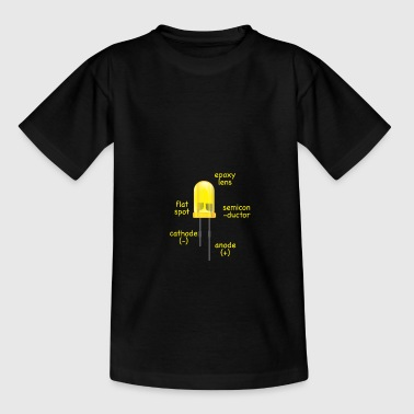 electronic yellow LED with description as a gift - Kids' T-Shirt
