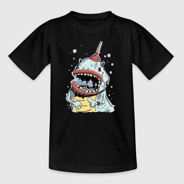 Monster mit Pömpel und Ohrring - Kinder T-Shirt