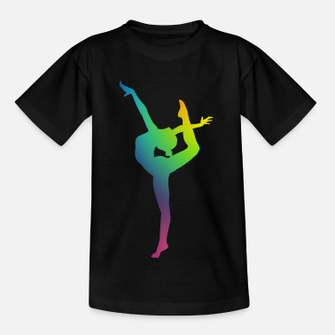 Gymnast in color - Kids' T-Shirt