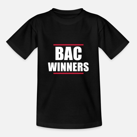 Bac T-shirts - Bac Winners Promo 2014 - T-shirt Enfant noir