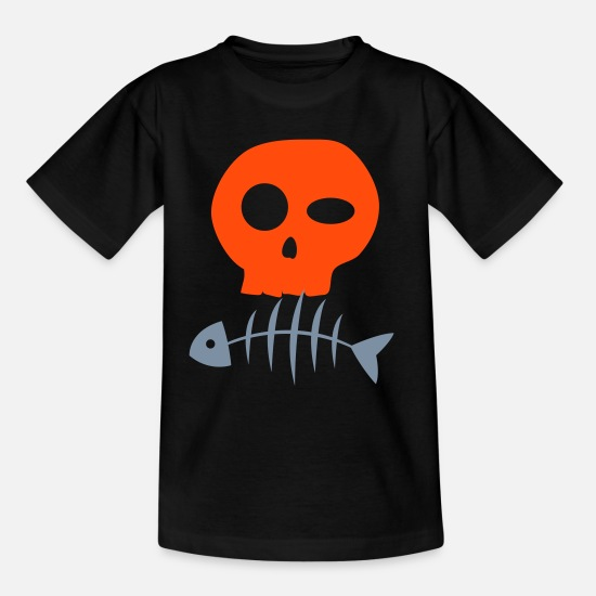 Skull And Crossbones T-Shirts - tete de mort - Kids' T-Shirt black