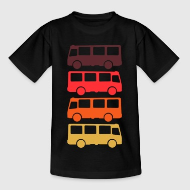 Bus Transporter Retro - Kinder T-Shirt