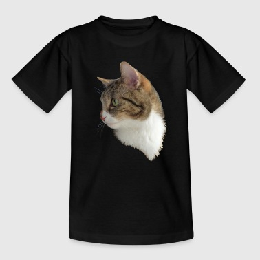 Domestic cat in the portrait - Kids' T-Shirt
