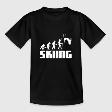Apres Ski Evolution Skier Skifahren Winter Sport Schnee - Kinder T-Shirt