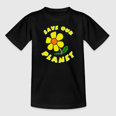 save the planet graphic - Kids' T-Shirt