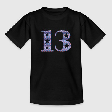 Lucky number 13 - Kids' T-Shirt