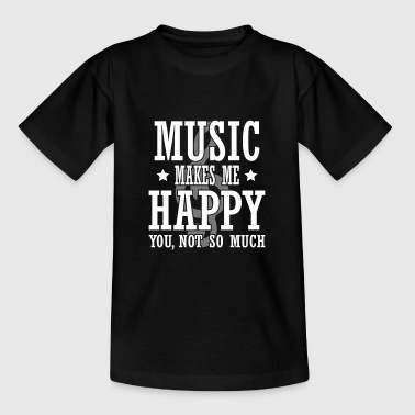 music make me happy - Kids' T-Shirt