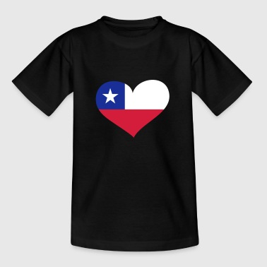 Chile Chile Herz; Heart Chile - T-shirt barn