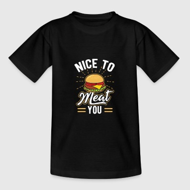 Burger Hamburger Cheeseburger Eating Meat Dish - Kids' T-Shirt