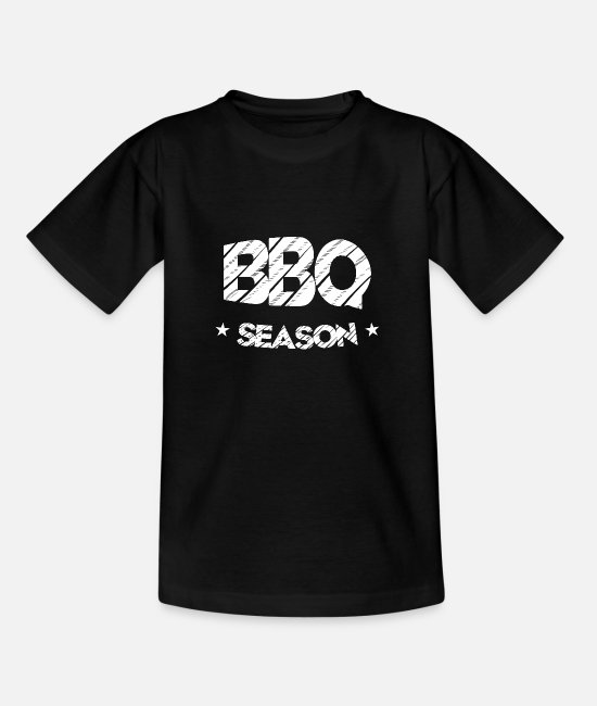 Bbq T-Shirts - Barbecue BBQ Season Top - Kids' T-Shirt black