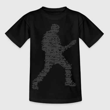 guitar_player_notes_09201601_grau - Kinder T-Shirt