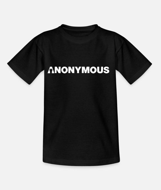 Obey T-Shirts - Anonymous - We are legion - Expect us - Kids' T-Shirt black