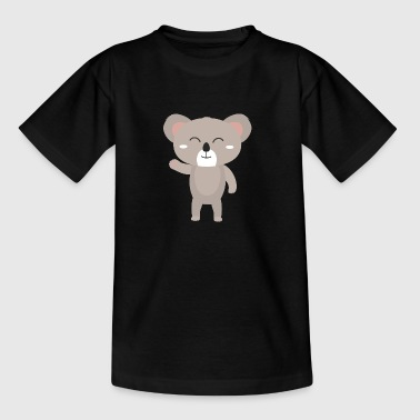Koala waving friendly - Kids' T-Shirt