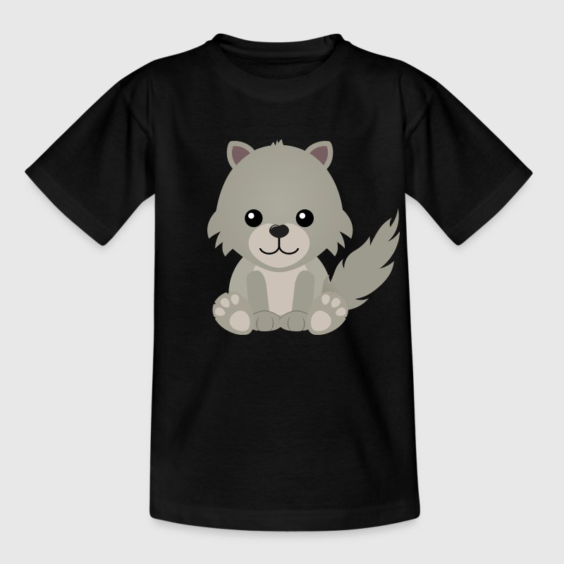 Kawaii Cute Wolf Cub - Kids' T-Shirt