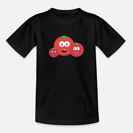 Garden T-Shirts - Three tomatoes - Kids' T-Shirt black
